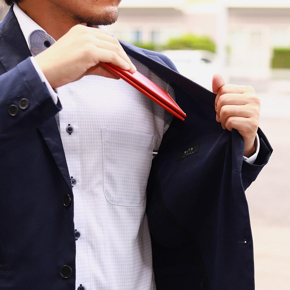 長財布 折財布 カード お札 シンプル 薄型 15枚 内ポケット 本革 レザー