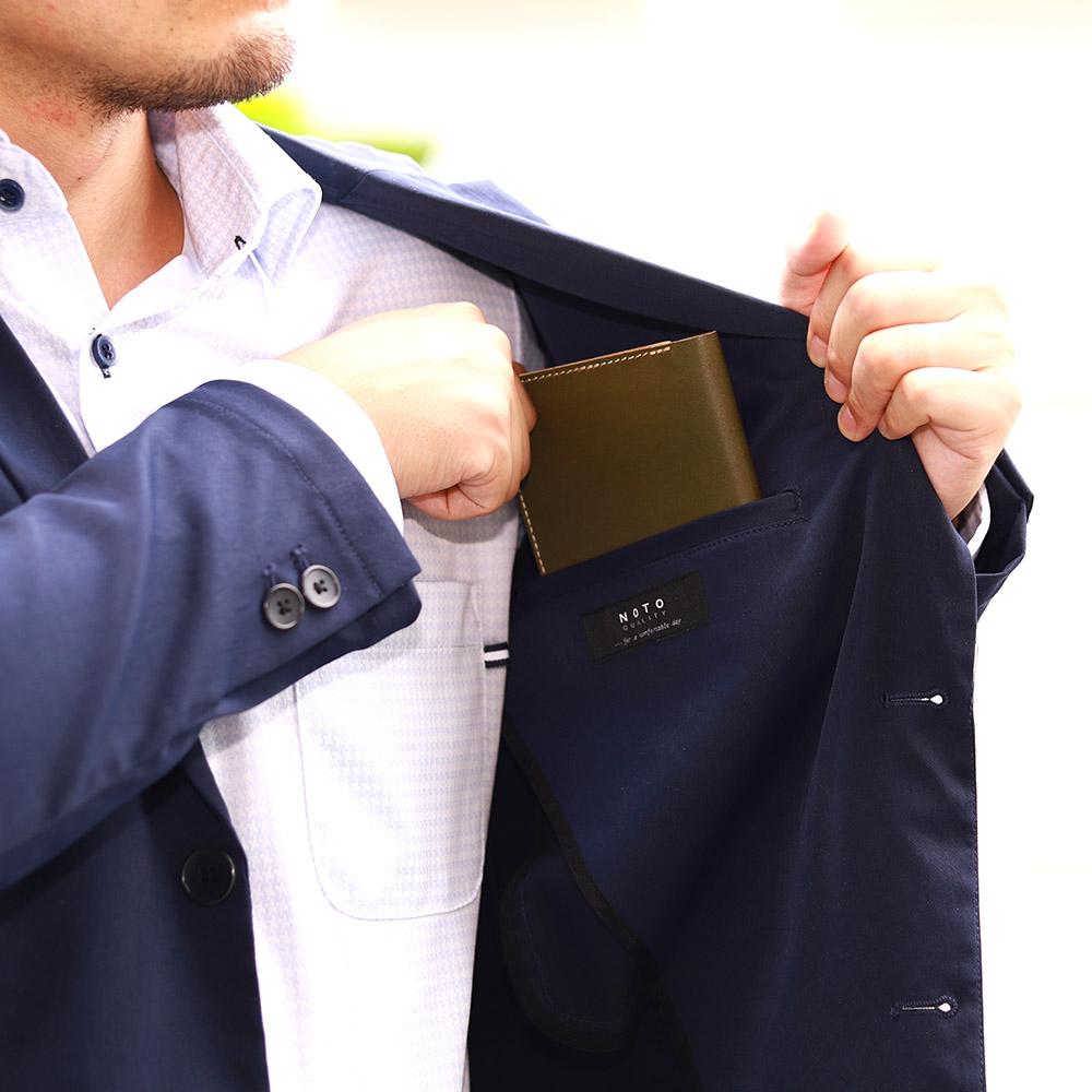 短財布 折財布 カード お札 シンプル 薄型 4枚 内ポケット 本革 レザー